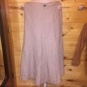 New Gap Linen Boho Skirt Full Length Tan
